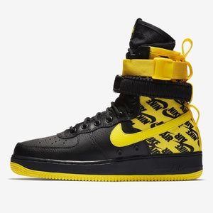 Nike Shoes - Nike SF AF1 Air Force One High Black   Yellow 1ed7684eb445